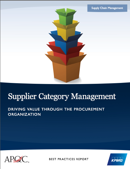 Supplier Category Benchmarking cover