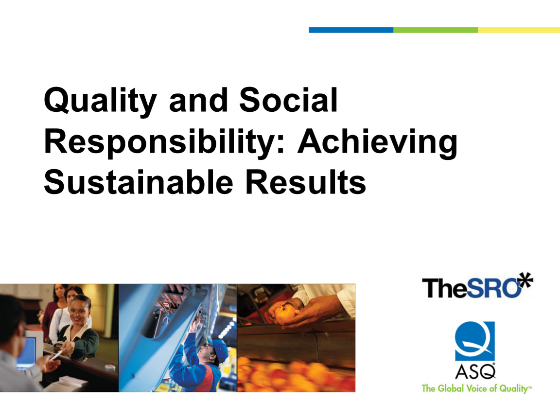 Achieving Sustainable Results cover slide