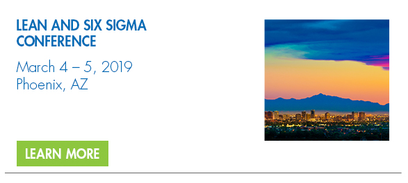 2019 Lean and Six Sigma Conference