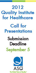 2012 QIHC Call for Presentations
