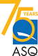 ASQ 75 years logo icon