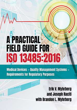 A Practical Field Guide for ISO 13485:2016 (front cover)