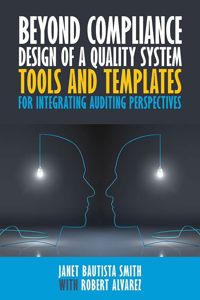 """Beyond Compliance Design of a Quality System"" - front cover"