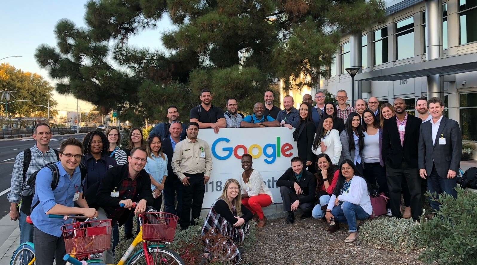 Cohort group photo at Google