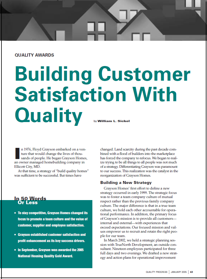 Building Customer Satisfaction With Quality