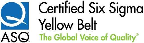 ASQ Certified Six Sigma Yellow Belt logo