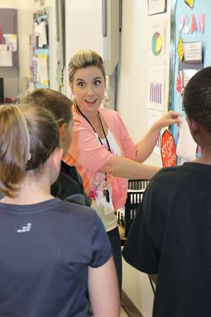 Keri Bass, Troutman Elementary School (N.C.), teaches students