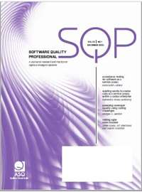 Software Quality Professional publication cover
