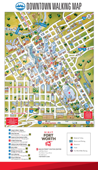 Fort Worth Downtown Walking Map