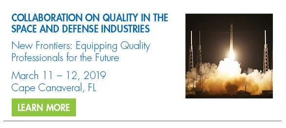 2019 Collaboration on Quality in the Space and Defense Industries